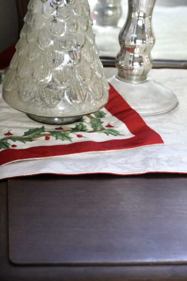 Showing the back of my Christmas runner