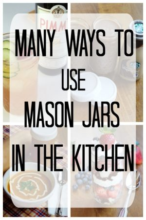 Ideas to use mason jars for storage in kitchen