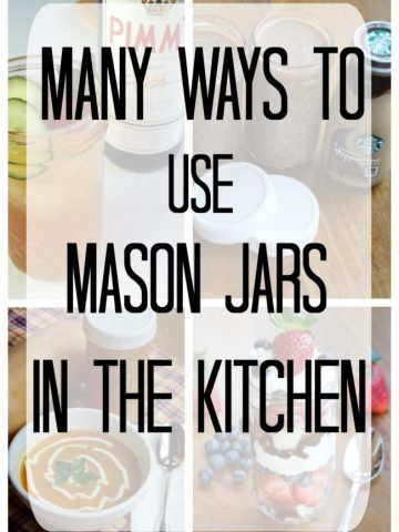 Ideas to use mason jars for storage in kitchen