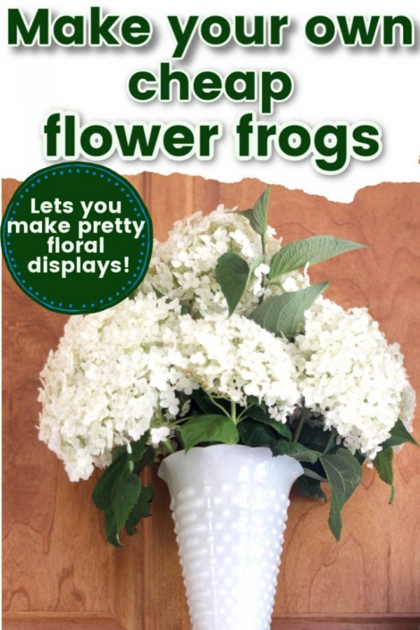 Milkglass vase with hydrangea flowers
