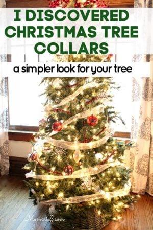 Christmas tree with an overlay stating I discovered Christmas tree collars